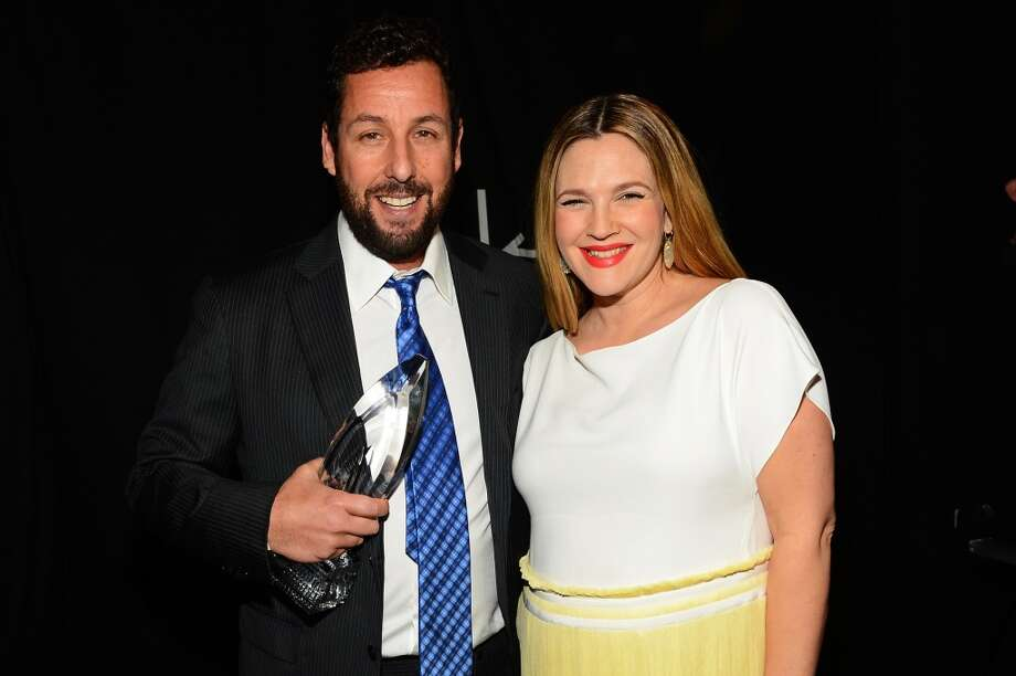 Actor Adam Sandler (L) and actress Drew Barrymore attend The 40th Annual People's Choice Awards at Nokia Theatre L.A. Live on January 8, 2014 in Los Angeles, California.  (Photo by Mark Davis/Getty Images for The People's Choice Awards) Photo: Mark Davis
