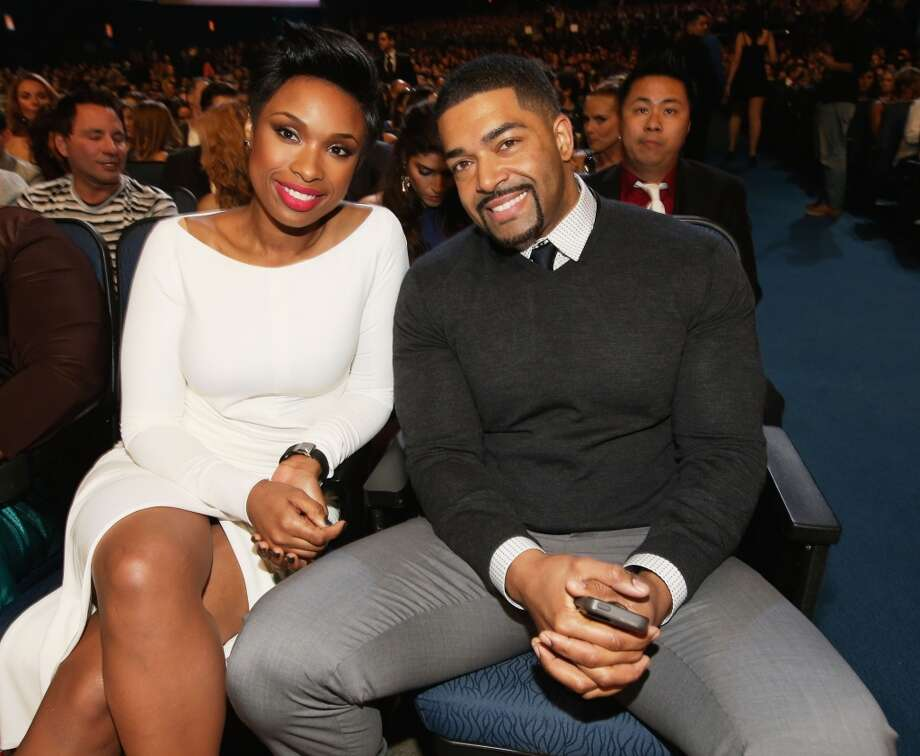 Singer Jennifer Hudson (L) and pro wrestler David Otunga attend The 40th Annual People's Choice Awards at Nokia Theatre L.A. Live on January 8, 2014 in Los Angeles, California.  (Photo by Christopher Polk/Getty Images for The People's Choice Awards) Photo: Christopher Polk