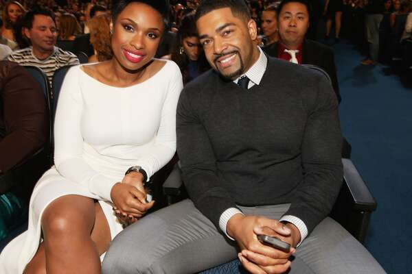 Singer Jennifer Hudson (L) and pro wrestler David Otunga attend The 40th Annual People's Choice Awards at Nokia Theatre L.A. Live on January 8, 2014 in Los Angeles, California.  (Photo by Christopher Polk/Getty Images for The People's Choice Awards)