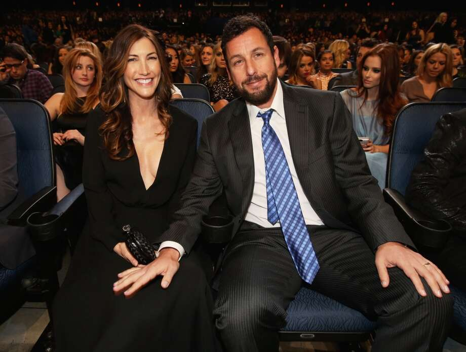 Actor Adam Sandler (R) and Jackie Sandler attend The 40th Annual People's Choice Awards at Nokia Theatre L.A. Live on January 8, 2014 in Los Angeles, California.  (Photo by Christopher Polk/Getty Images for The People's Choice Awards) Photo: Christopher Polk