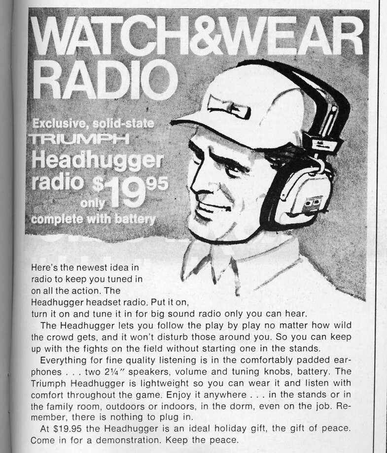 I'd make fun of these, but they're not much bigger than the Beats by Dre headphones that Colin Kaepernick wears. (Hipster tip: You can buy the 1971 models on eBay. For less than $50 you'll be King of the Mission.) Photo: Pro! Magazine/Figone Family Collection