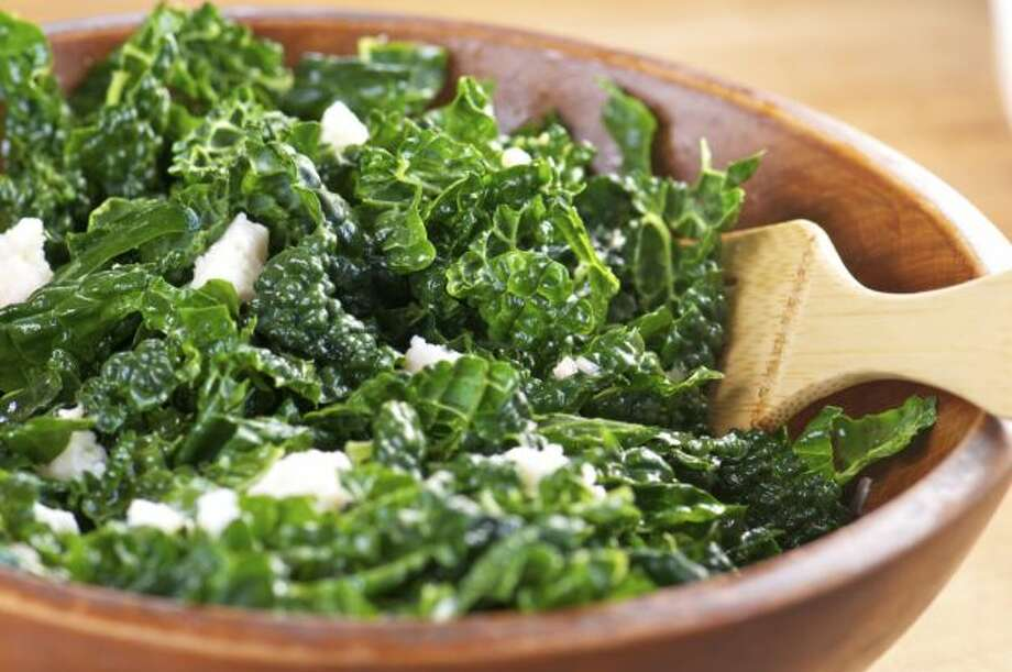 """IN: Kale. This trendy green is here to stay, with more than 60  percent of chefs saying dark greens and kale salads in particular are  """"hot."""" Photo: Courtesy"""