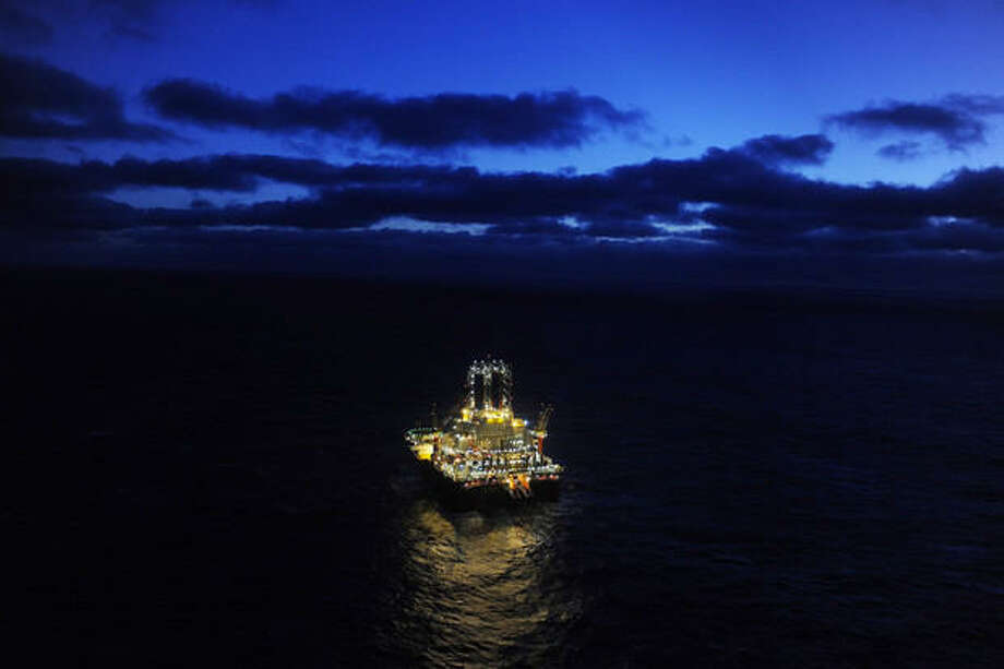 A Statoil drilling rig. Photo: Harald Pettersen, Statoil