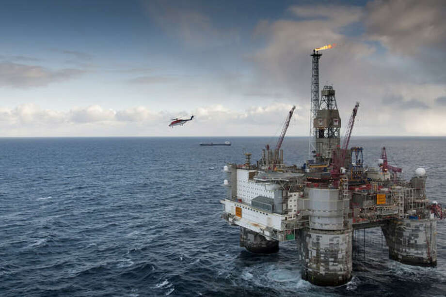 A Statoil ASA oil platform off the coast of Norway. Photo: Øyvind Hagen, Statoil ASA