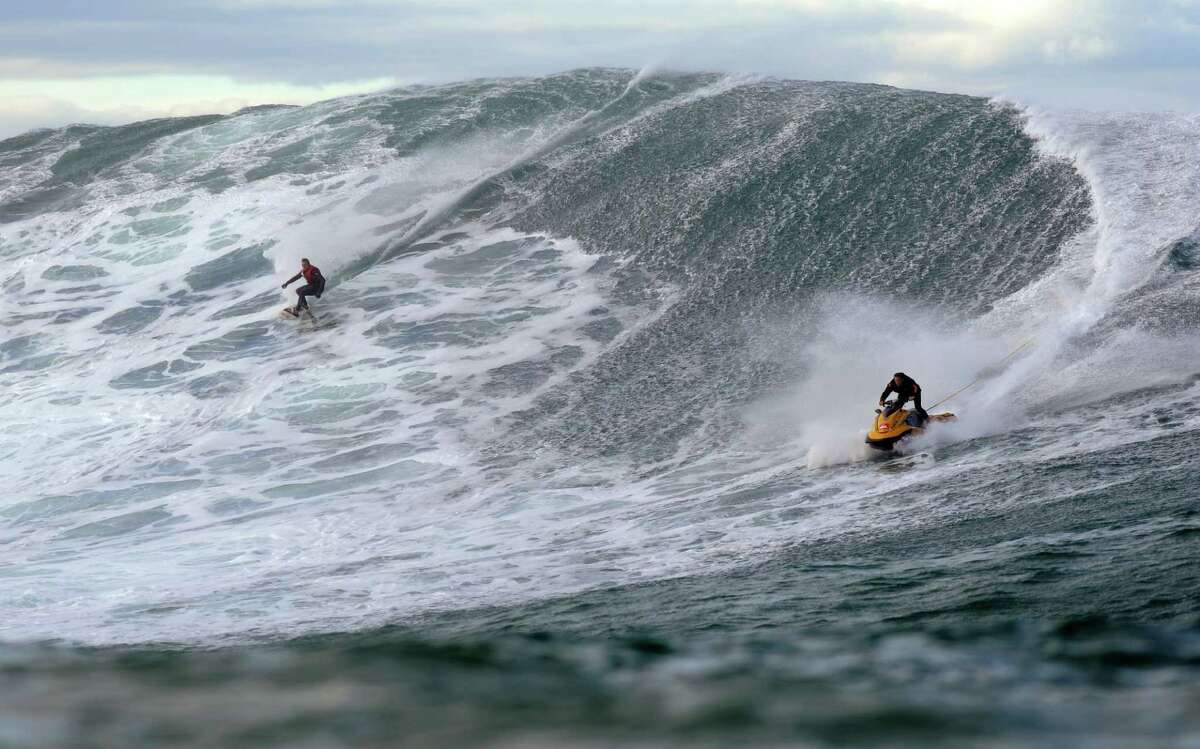 They surfers settled on Belhara off the coast of France, which was sheltered from the wind.