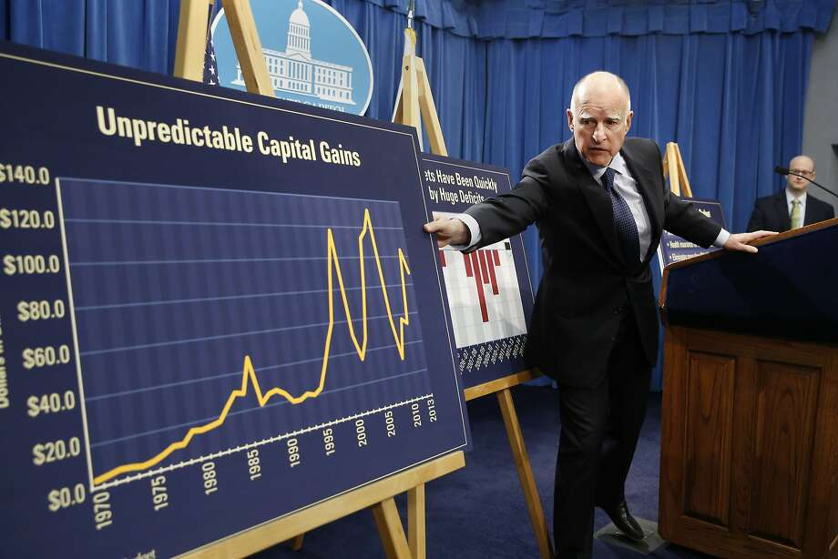 Gov. Jerry Brown proposes an 8 percent spending increase in the 2014-15 state budget as a result, in part, of an unanticipated rise in capital gains taxes. Photo: Rich Pedroncelli, Associated Press