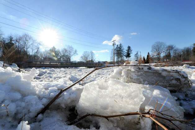 An ice jam on the Kayaderosseres Creek at Williams Kelley Park on Thursday Jan. 9, 2014, in Ballston Spa, N.Y. (Michael P. Farrell/Times Union) Photo: Michael P. Farrell / 00025305A