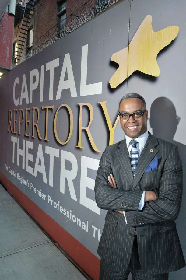 Marcus Pryor, board president at Capital Rep poses for a photograph at the theater on Wednesday, Jan. 8, 2014 in Albany, NY.  (Paul Buckowski / Times Union) Photo: Paul Buckowski