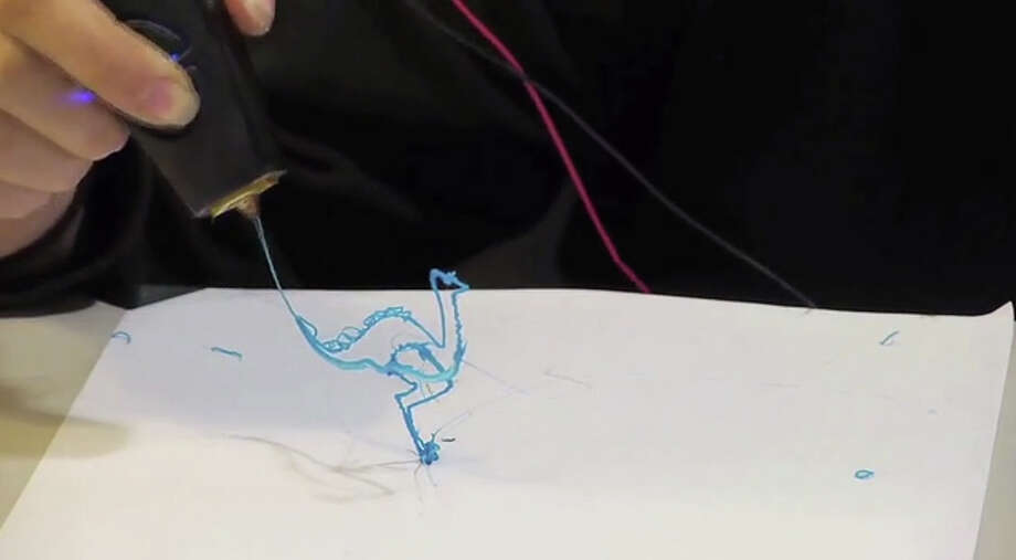 3Doodler is a pen that can draw in 3 dimensions!  The pen heats up material that quickly cools as you draw. Developers consider the 3Doodler to be a 3-D printer and claim it will be the most affordable way to print in 3-D. More than 26,000 backers raised $2.3 million for the Kickstarter project. The fundraiser ended on Mar. 25, 2013. Wobble Works, the developer, was originally looking for a total backing of $30,000. Check out more information on the 3Doodler here. Photo: Kickstarter.com