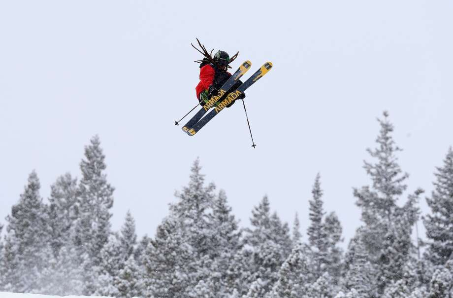 Felix Stridsberg-Usterud of Norway competes in the men's ski slopestyle qualification during day one of the U.S. Snowboarding and Freeskiing Grand Prix Breckenridge on Jan. 8, 2014 in Breckenridge, Colo. Photo: Streeter Lecka, Getty Images