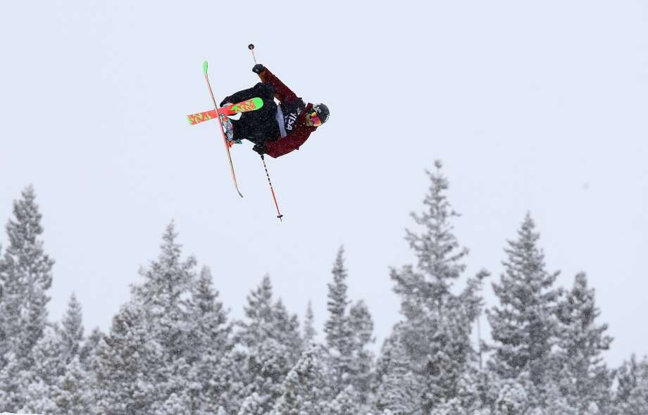 Lyman Currier of the USA competes in the men's ski slopestyle qualification during day one of the U.S. Snowboarding and Freeskiing Grand Prix Breckenridge on Jan. 8, 2014 in Breckenridge, Colo. Photo: Streeter Lecka, Getty Images