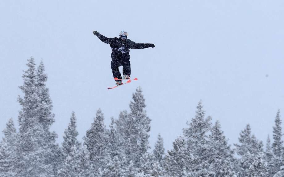 Nicholas Goepper of the USA in the men's ski slopestyle qualification during day one of the U.S. Snowboarding and Freeskiing Grand Prix Breckenridge on Jan. 8, 2014 in Breckenridge, Colo. Photo: Streeter Lecka, Getty Images