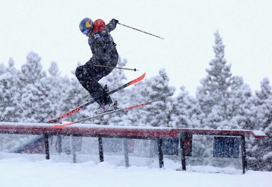Eder Markus of Italy competes in the men's ski slopestyle qualification during day one of the U.S. Snowboarding and Freeskiing Grand Prix Breckenridge on Jan. 8, 2014 in Breckenridge, Colo. Photo: Streeter Lecka, Getty Images