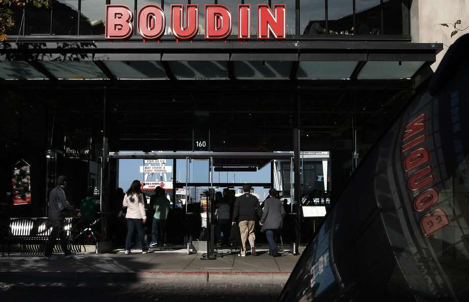 A view of visitors entering the Boudin San Francisco sourdough company in San Francisco, Calif., on Monday, January 3, 2014. Photo: Liz Hafalia, The Chronicle