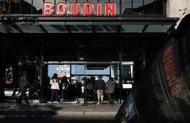 A view of visitors entering the Boudin San Francisco sourdough company in San Francisco, Calif., on Monday, January 3, 2014.