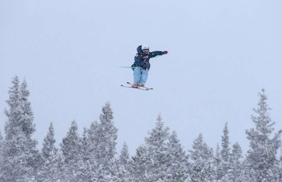 Noah Morrison of Canada in the men's ski slopestyle qualification during day one of the U.S. Snowboarding and Freeskiing Grand Prix Breckenridge on Jan. 8, 2014 in Breckenridge, Colo. Photo: Streeter Lecka, Getty Images