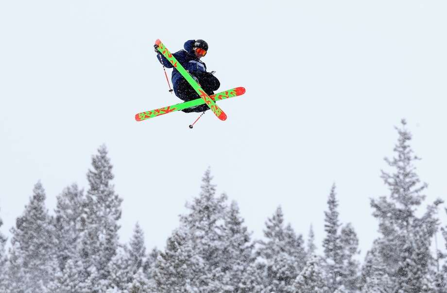 Christopher Hjalmeby of Sweden competes in the men's ski slopestyle qualification during day one of the U.S. Snowboarding and Freeskiing Grand Prix Breckenridge on Jan. 8, 2014 in Breckenridge, Colo. Photo: Streeter Lecka, Getty Images