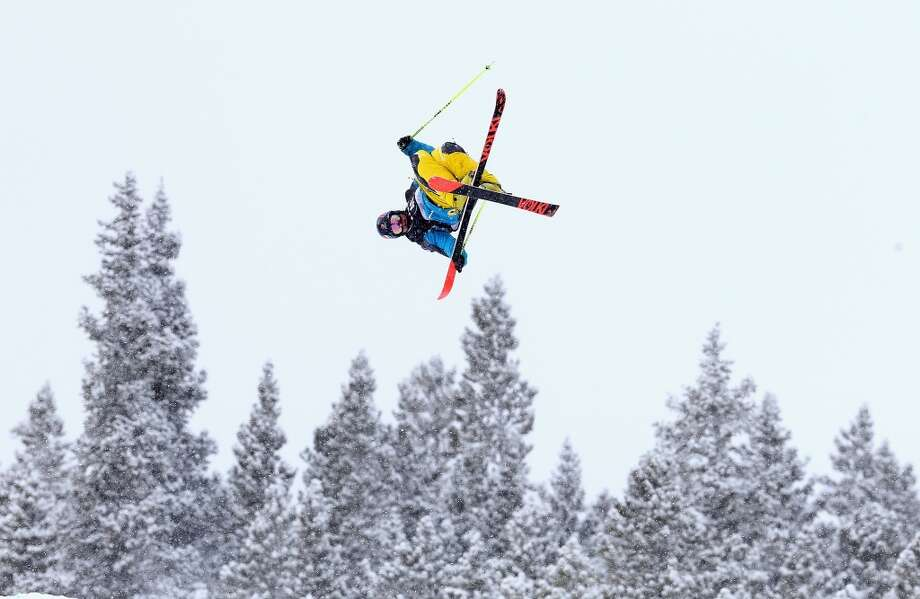 Oscar Scherlin of Sweden competes in the men's ski slopestyle qualification during day one of the U.S. Snowboarding and Freeskiing Grand Prix Breckenridge on Jan. 8, 2014 in Breckenridge, Colo.. Photo: Streeter Lecka, Getty Images