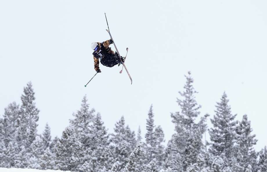 Jonas Hunziker of Switzerland competes in the men's ski slopestyle qualification during day one of the U.S. Snowboarding and Freeskiing Grand Prix Breckenridge on Jan. 8, 2014 in Breckenridge, Colo. Photo: Streeter Lecka, Getty Images