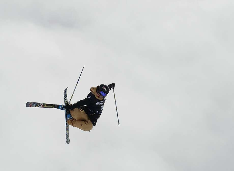 A photo taken on March 25, 2013 shows (L-R) Canadian skier Rosalind Groenewoud competing in the Ladies' Ski Halfpipe race at the World Cup Super finals Snowboard and FreeStyle at Sierra Nevada ski resort near Granada. Some 26 years after freestyle skiiing has been shown as a demonstration sport at the 1988 Winter Olympic Games in Calgary, the halfpipe and ski slopestyle disciplines will make their Olympic debut at the 2014 Winter Olympics in Sochi. Photo: PIERRE-PHILIPPE MARCOU, AFP/Getty Images