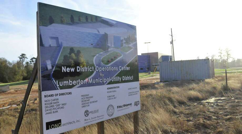 The new Lumberton Municipal Utility District office is under construction at 625 F.M. 421. The facility is expected to be completed in the next few weeks. Photo by Cassie Smith/@smithcassie Photo: Cassie Smith/@smithcassie