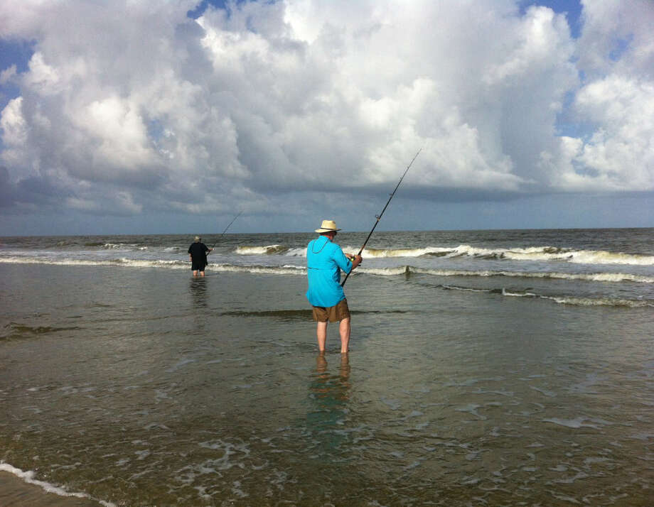 Whiting and crab are plentiful along some parts of the islands, but many anglers pull and toss back sand sharks.