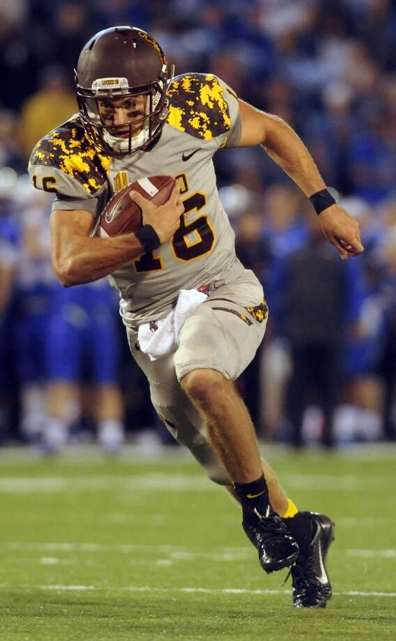 Brett Smith  Wyoming  Junior  6-2, 206 pounds  Career stats: 8,834 yards passing, 76 TD, 28 INT, 61.9 completion percentage, 1,529 yards, 20 TD  In three seasons at Wyoming, Smith proved to be a dual threat. Photo: MARK REIS, Associated Press