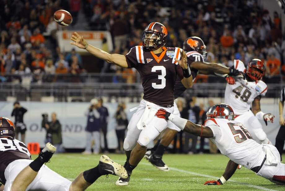 Logan Thomas  Virginia Tech  Redshirt senior  6-6, 254 pounds  Career stats: 9,005 yards passing, 53 TD, 39 INT, 55.6 completion percentage, 1,359 yards rushing, 24 TD  Thomas had his best season for Virginia Tech as a sophomore. He threw for less touchdowns and passing yards in his last two years. Photo: Brian Blanco, Associated Press