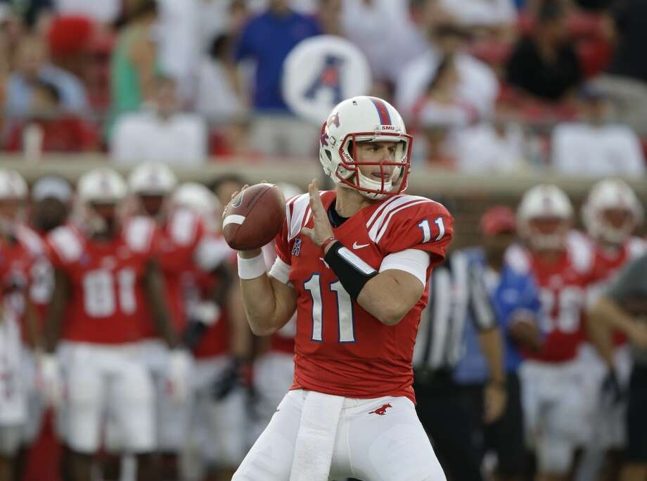 Garrett Gilbert  SMU  Redshirt senior  6-3, 223 pounds  Career stats: 9,761 yards passing, 49 TD, 45 INT, 58.7 completion percentage, 1,013 yards rushing, 20 TD  He transferred from Texas and had his best collegiate season as a senior at SMU with 21 touchdowns, seven interceptions and 3,528 passing yards. Photo: LM Otero, Associated Press