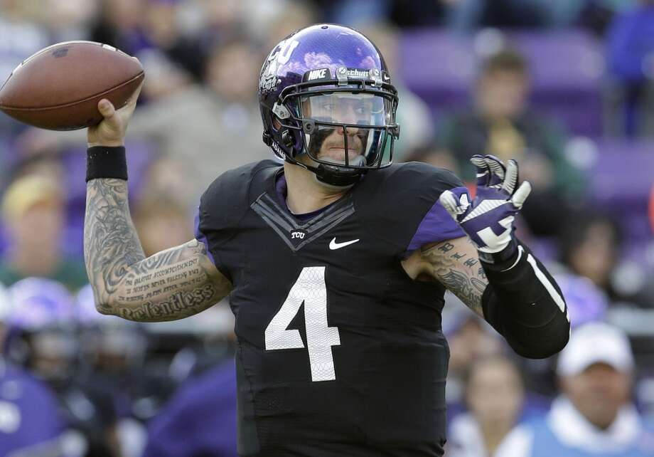 Casey Pachall  TCU  Senior  6-4, 230 pounds  Career stats: 5,415 yards, 42 TD, 18 INT, 62.9 completion percentage  The TCU quarterback would be a gamble for NFL teams after he had a disappointing senior season and issues away from football . Photo: LM Otero, Associated Press