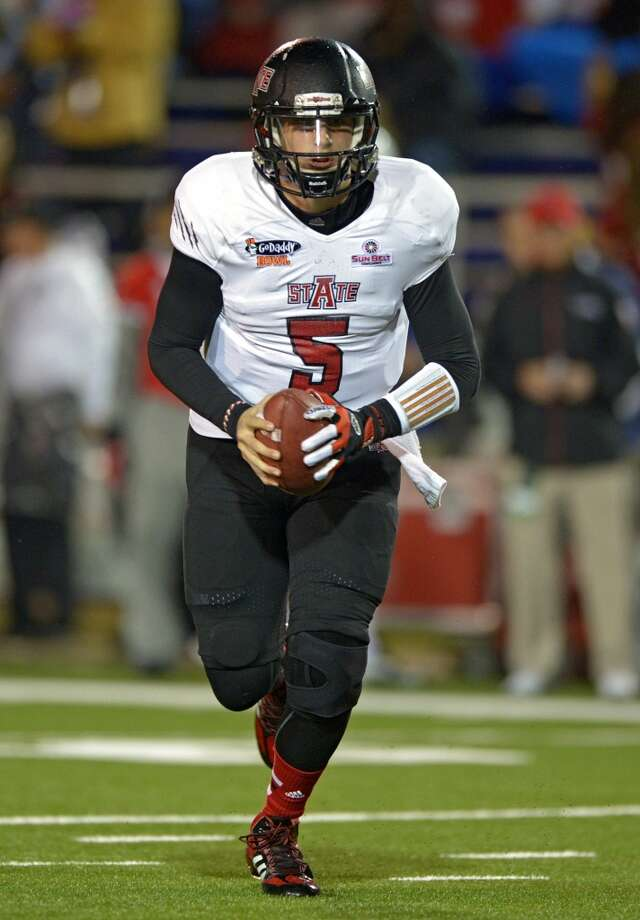 Adam Kennedy   Arkansas State  Redshirt senior  6-4, 224 pounds  Career stats: 2,341 yards passing, 11 TD, 6 INT, 69.1 completion percentage, 524 yards rushing, 4 TD Photo: G ANDREWS, Associated Press