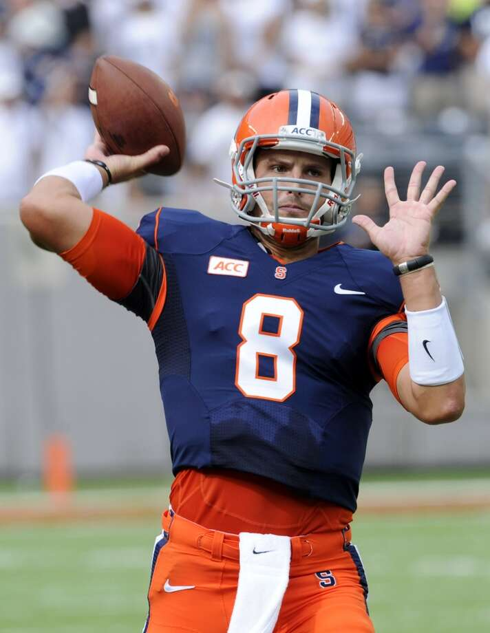 Drew Allen   Syracuse  Redshirt senior  6-5, 225 pounds  Career stats: 666 yards passing, 2 TD, 9 INT, 55.7 completion percentage in seven games Photo: Bill Kostroun, Associated Press