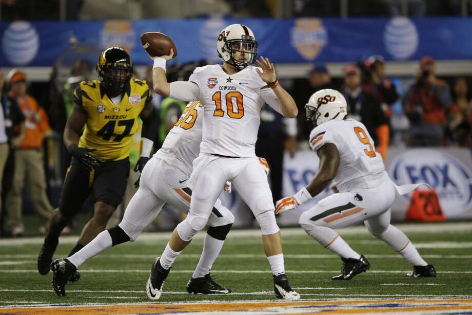 Clint Chelf   Oklahoma State  Redshirt senior  6-1, 210 pounds  Career stats: 4,281 yards passing, 37 TD, 15 INT, 59 completion percentage, 501 yards rushing, 7 TD Photo: Tim Sharp, Associated Press