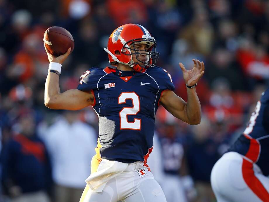 Nathan Scheelhaase  Illinois  Redshirt senior  6-2, 205 pounds  Career stats: 8,568 yards passing, 55 TD, 37 INT, 63 completion percentage, 2,066 yards rushing, 19 TD Photo: Jeff Haynes, Associated Press