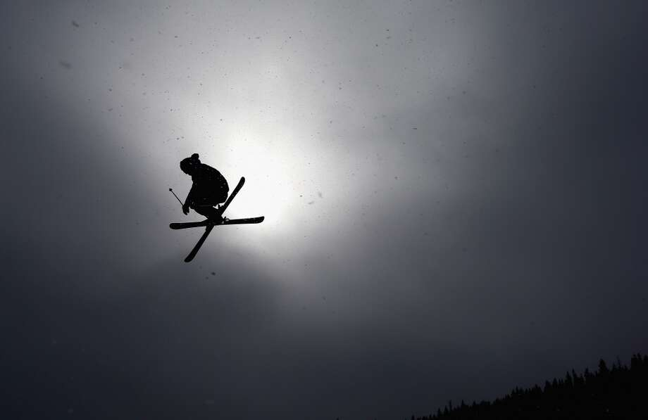 A competitor warms up for the men's ski slopestyle qualification during day one of the U.S. Snowboarding and Freeskiing Grand Prix Breckenridge on Jan. 8, 2014 in Breckenridge, Colo. Photo: Streeter Lecka, Getty Images