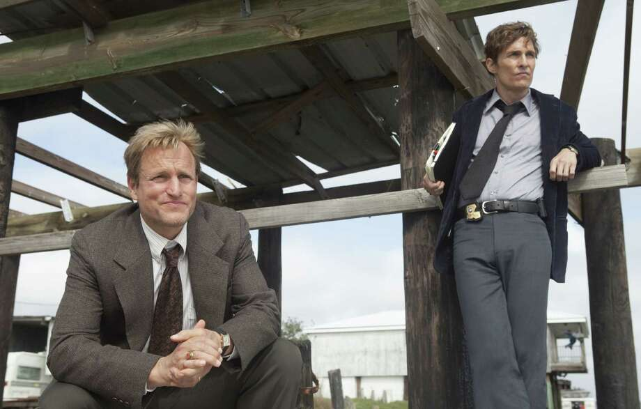 Woody Harrelson (left) and Matthew McConaughey hit it out of the park as two Louisiana detectives investigating a gruesome murder in a new crime drama on HBO. Photo: Jim Bridges / HBO / San Antonio Express-News