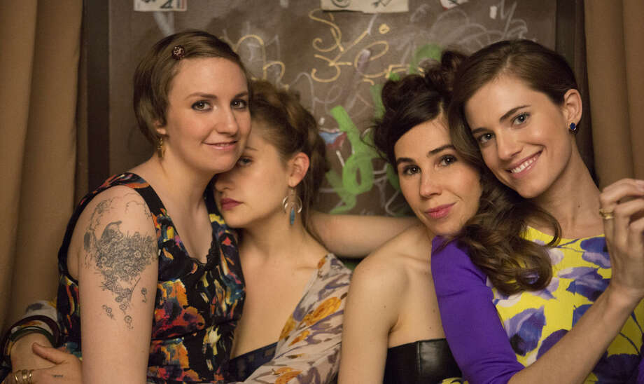 "Lena Dunham (from left), Jemima Kirke, Zosia Mamet and Allison Williams star in another angst-filled season of ""Girls."" Photo: HBO / San Antonio Express-News"