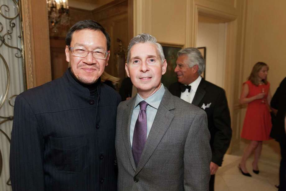 Tum Wu and Eric Murphy at the 2014 San Francisco Ballet Gala Benefactors pre-party on January 8, 2014. Photo: Drew Altizer Photography / © Drew Altizer