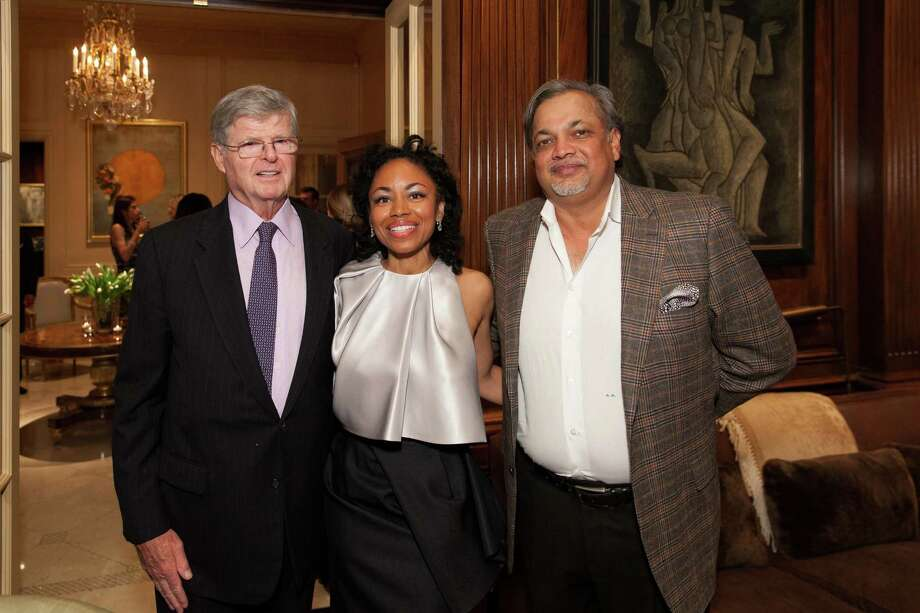 Dick Barker, Tanya Powell and Asim Abdullah at the 2014 San Francisco Ballet Gala Benefactors pre-party on January 8, 2014. Photo: Drew Altizer Photography / © Drew Altizer