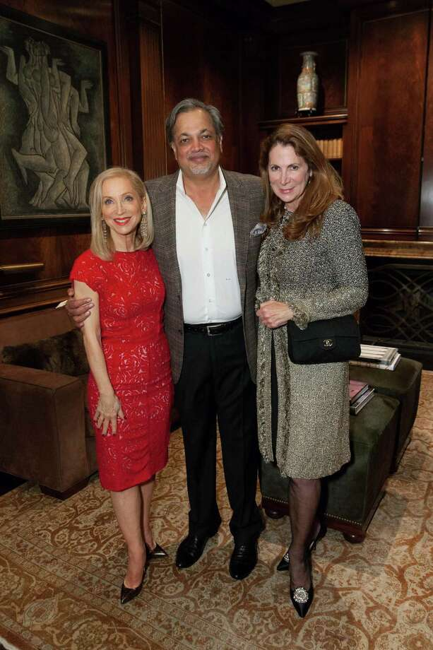 Shelley Gordon, Asim Abdullah and Patricia Ferrinat at the 2014 San Francisco Ballet Gala Benefactors pre-party on January 8, 2014. Photo: Drew Altizer Photography / © Drew Altizer