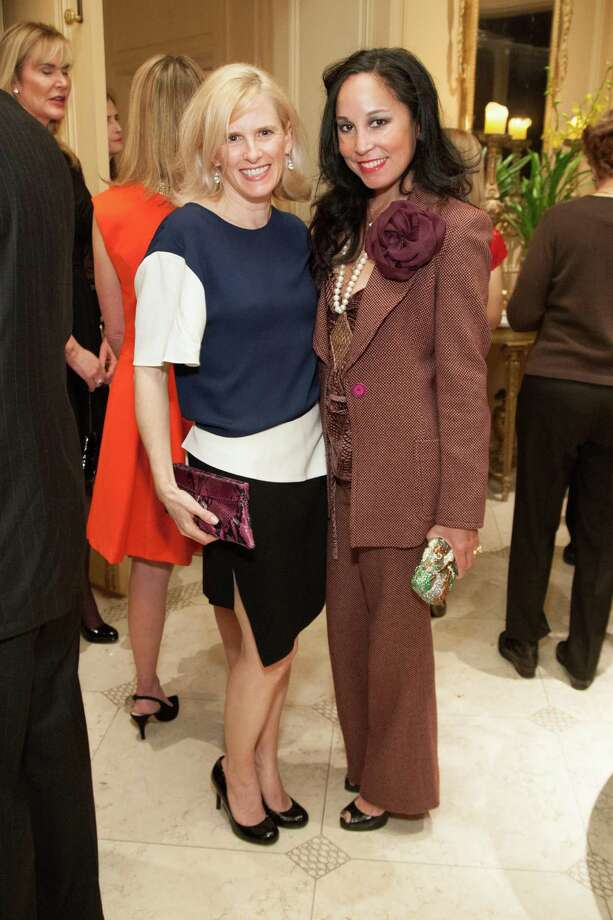 Marie Hurabell and Michelle Molfino at the 2014 San Francisco Ballet Gala Benefactors pre-party on January 8, 2014. Photo: Drew Altizer Photography