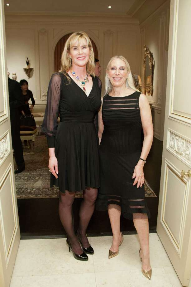 Jill Wickersham and Betsy Linder at the 2014 San Francisco Ballet Gala Benefactors pre-party on January 8, 2014. Photo: Drew Altizer Photography