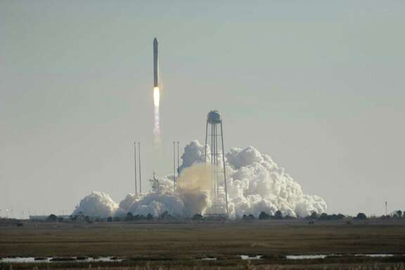 Orbital Science Corps.' rocket lifts off from Wallops Island, Va., Thursday carrying its first official re-supply mission to the International Space Station.