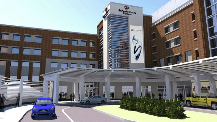 Artist's rendering of the new Samaritan Hospital Pavilion. (Source: St. Peter's Health Partners) Photo: LORI VAN BUREN / 00025297A
