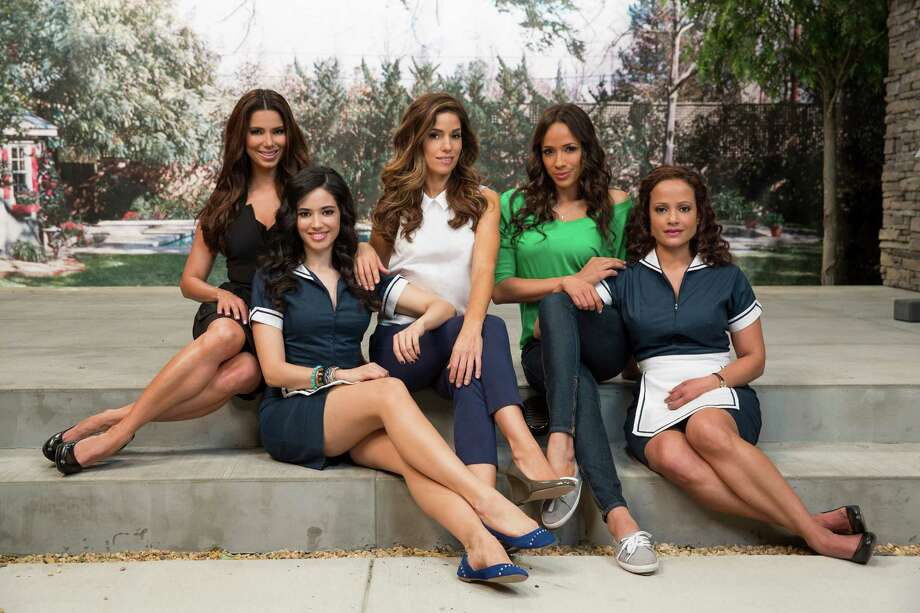 Playing the title characters of 'Devious Maids' are, left to right, Roselyn Sanchez, Edy Ganem, Ana Ortiz, Dania Ramirez and Judy Reyes. Photo: Courtesy Of Lifetime