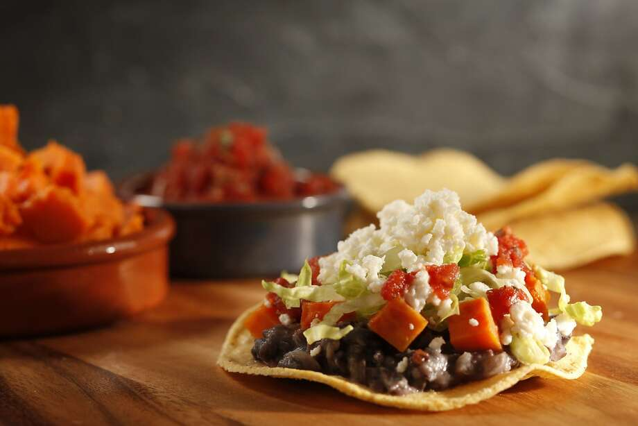 Tostadas With Refried Black Beans, Sweet Potatoes & Queso Fresco Photo: Craig Lee, Special To The Chronicle