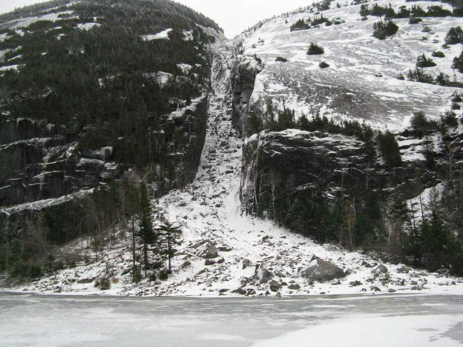 The Trap Dike on Mt. Colden as seen from Avalanche Lake. Read about this hike. Photo: Herb Terns