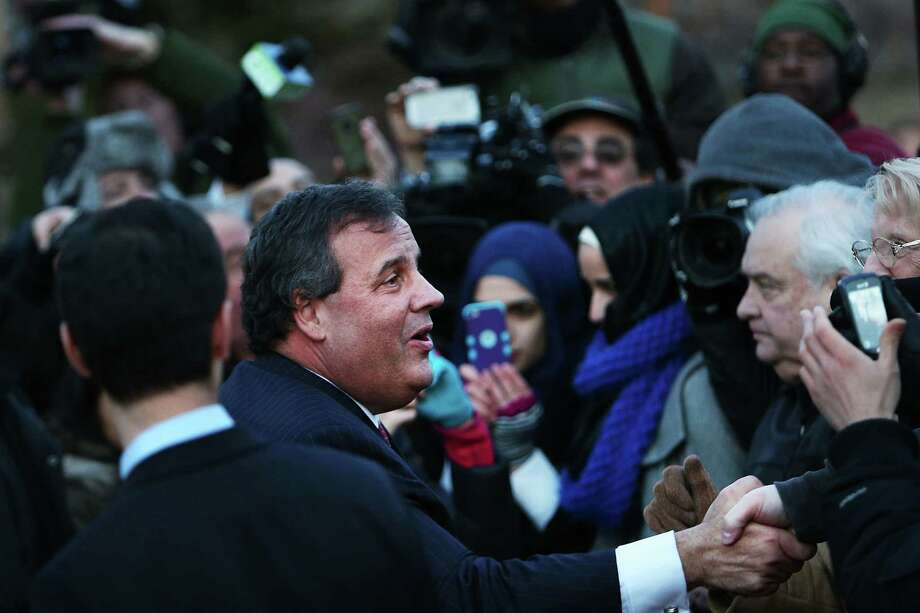New Jersey  Gov. Chris Christie greets Fort Lee residents Thursday as part of his effort to apologize for the bridge lane closing scandal. Photo: Spencer Platt, Staff / 2014 Getty Images
