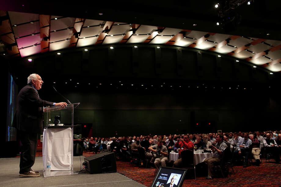 Ben Stein speaks during the POTATO EXPO 2014 luncheon at the Henry B. Gonzalez Convention Center in San Antonio on Thursday, Jan. 9, 2014. Photo: Lisa Krantz, Staff / SAN ANTONIO EXPRESS-NEWS