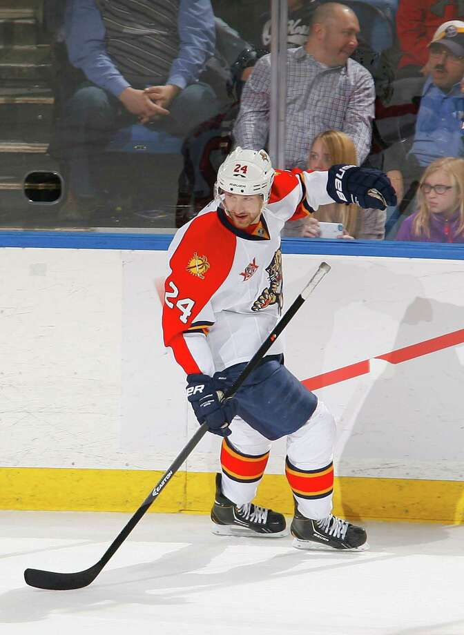 BUFFALO, NY - JANUARY 09:  Brad Boyes #24 of the Florida Panthers reacts after scoring the game-winning goal in a shootout against the Buffalo Sabres at First Niagara Center on January 9, 2014 in Buffalo, New York. Florida won 2-1 in a shootout.  (Photo by Rick Stewart/Getty Images) ORG XMIT: 181113040 Photo: Rick Stewart / 2014 Getty Images